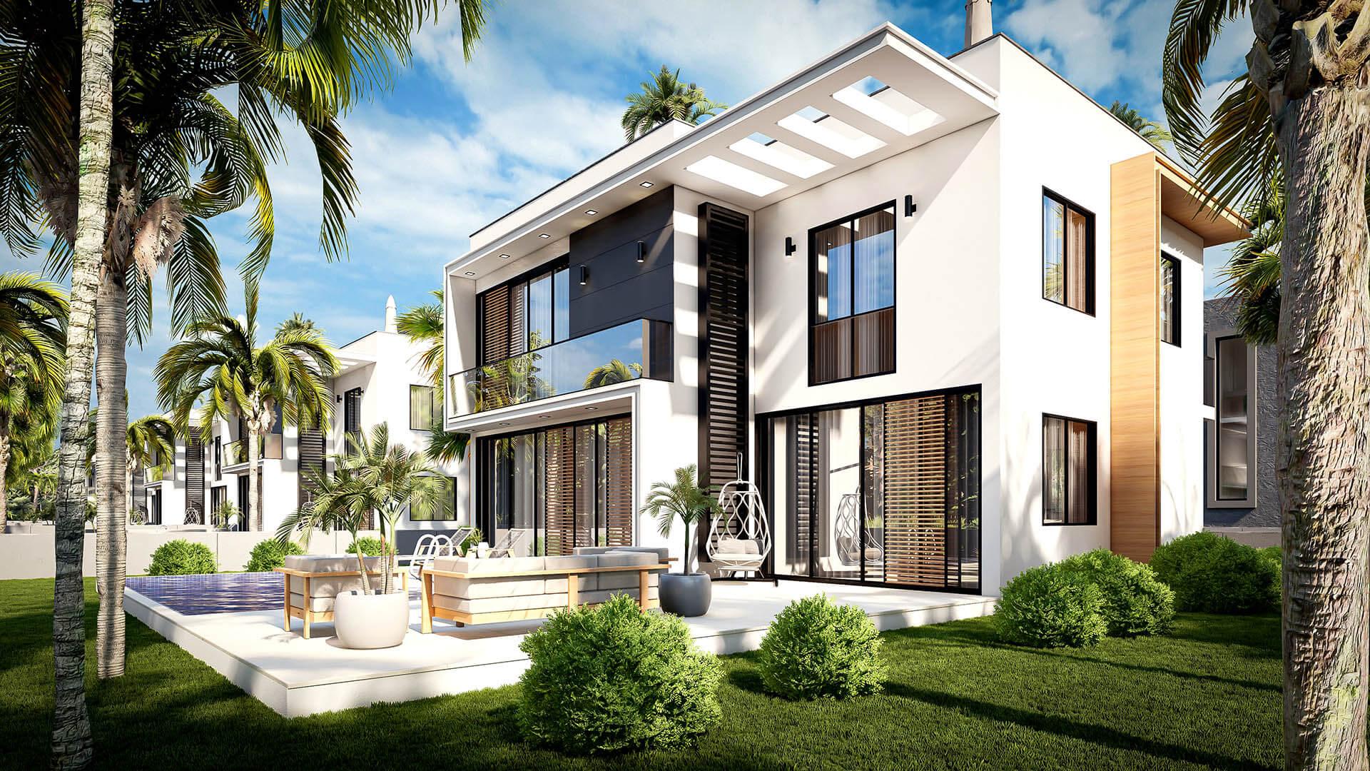 Pure İskele Villas Projesi Dış Görünüm Gündüz